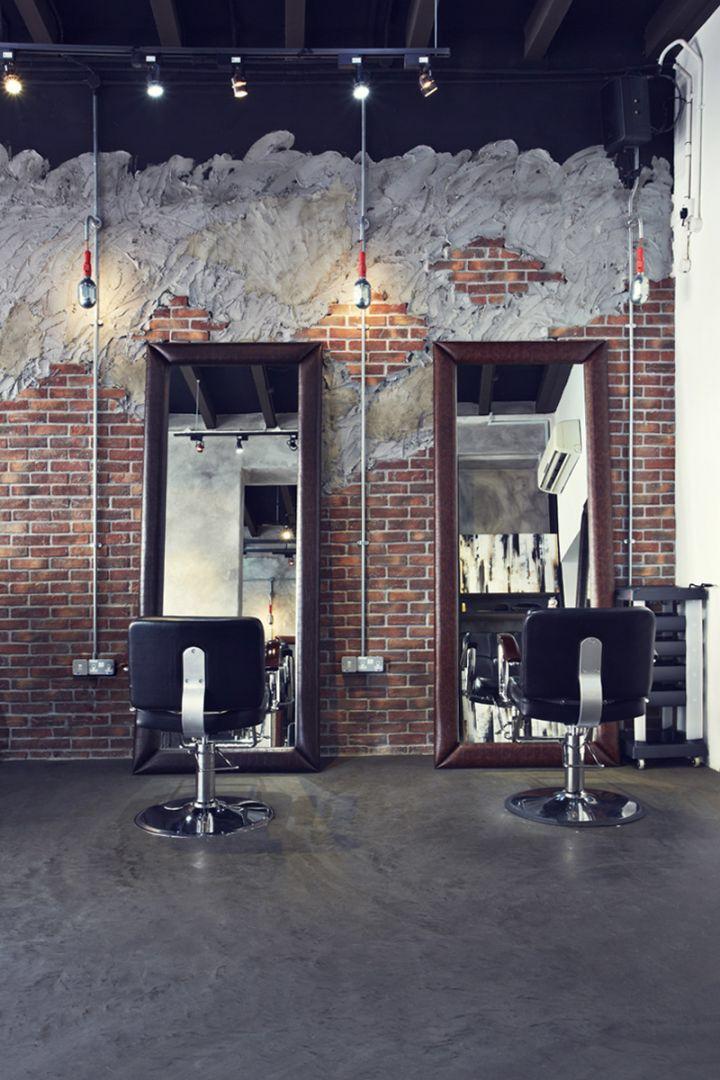 microcemento en una peluquería