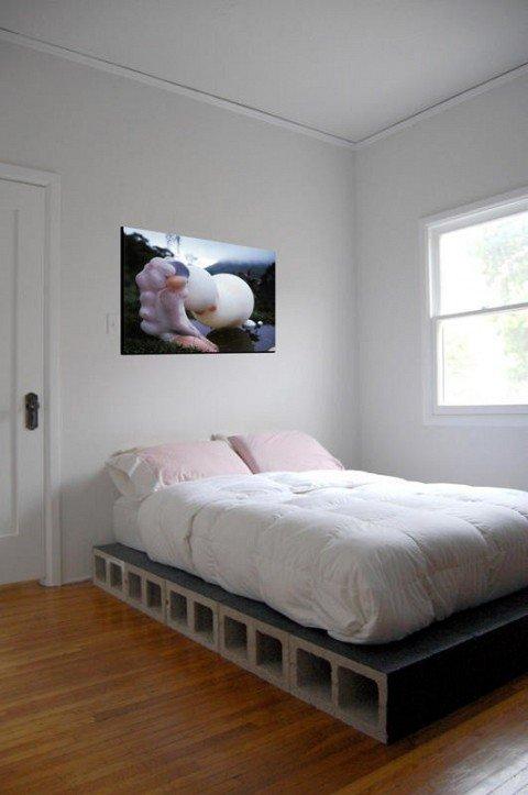 hormigón en el dormitorio