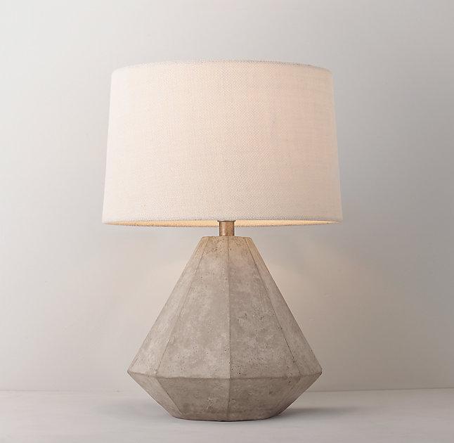 lampara de noche - hormigón arquitectónico en el dormitorio