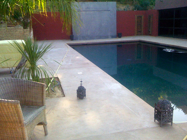 piscina en microcemento