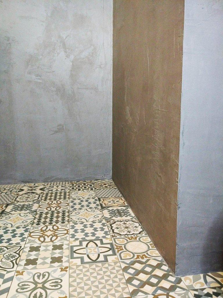 microcemento impermeable en el la ducha
