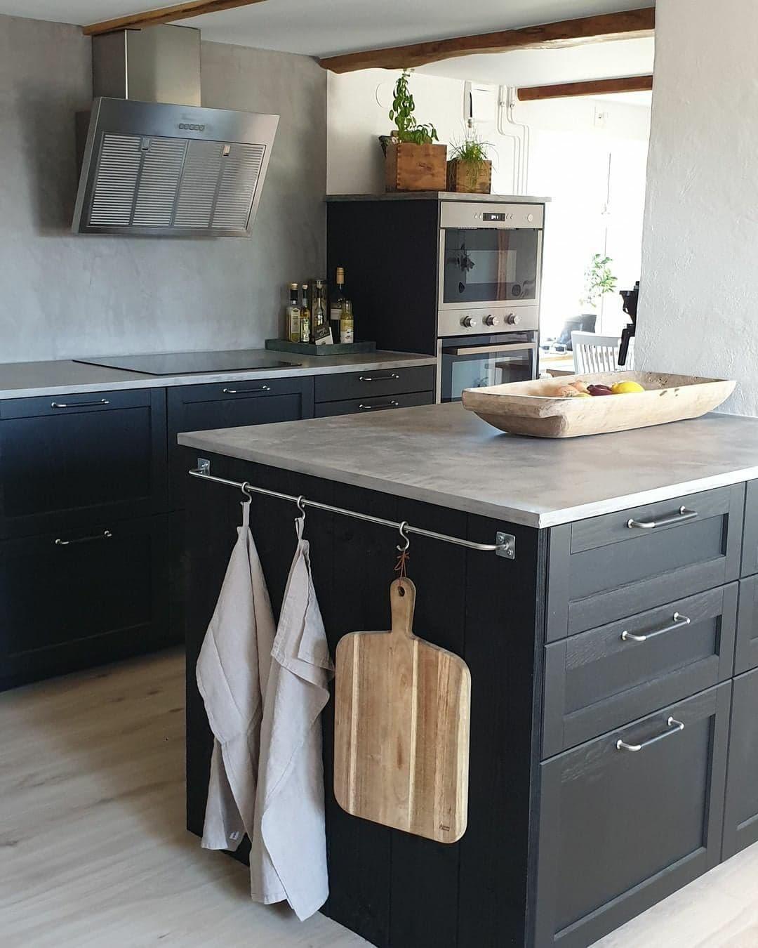 encimera de hormigón - encimera de microcemento - cocina estilo escandinavo
