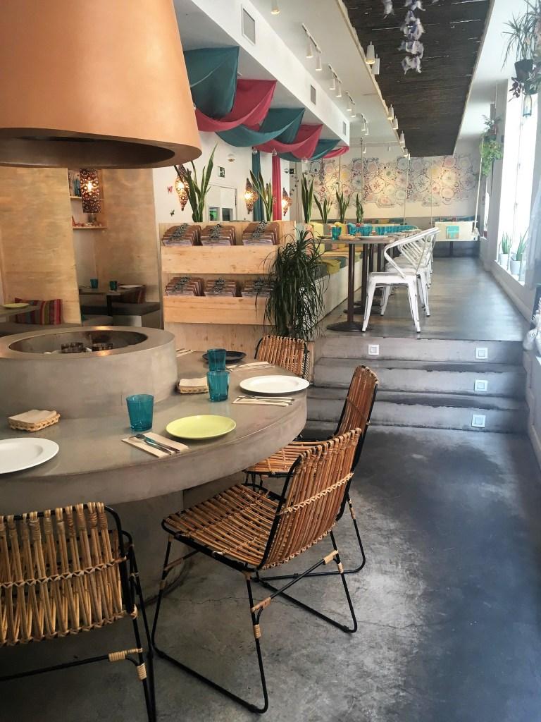 encimera de microcemento en un restaurante